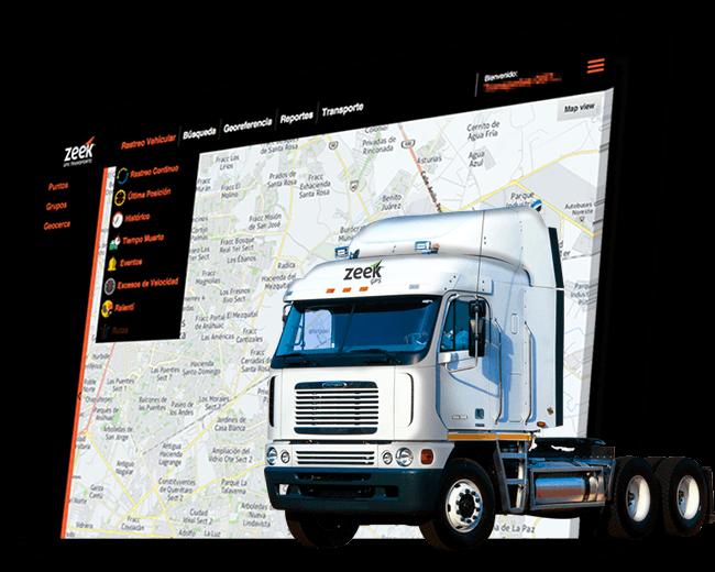 imagen de plataforma de rastreo satelital de transporte - Zeek GPS