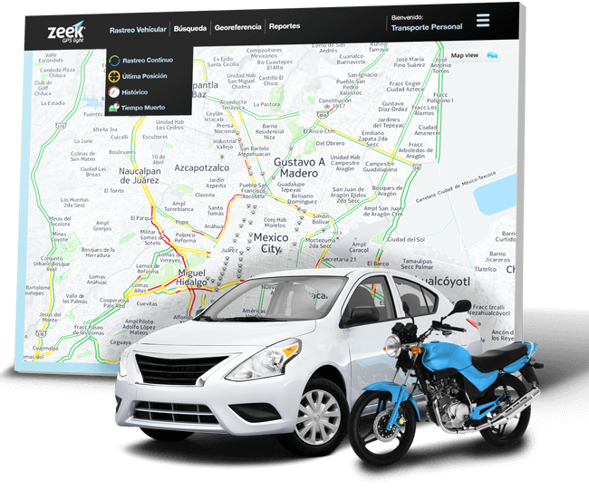 imagen de sistema de logística vehicular - Zeek GPS